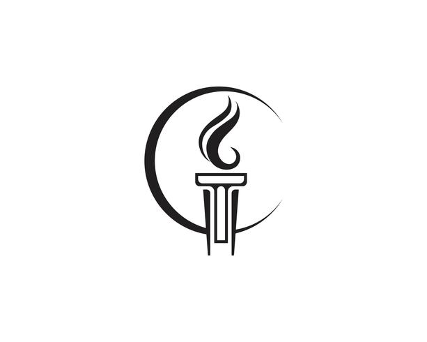 Initial T for Torch logo and symbol design inspiration vector
