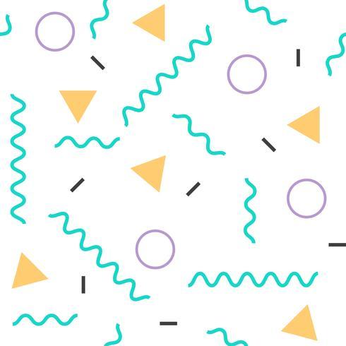 Memphis naadloze patroon met geometrische element achtergrond