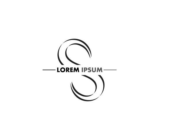 Diseño de logotipo de la empresa S carta corporativa vector