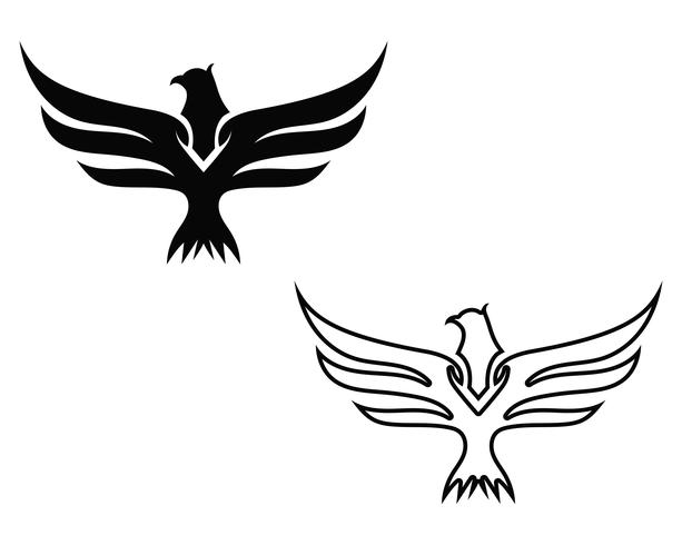 Wing Falcon Bird logo
