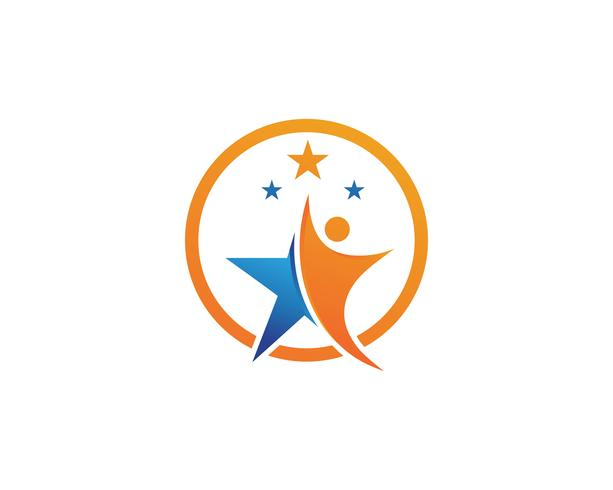 vector de ilustración de signo de logotipo de personaje líder