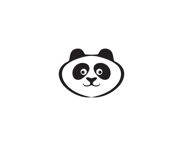 logotipo de panda en blanco y negro