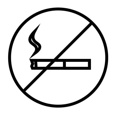 Aucun icône vecteur de fumer