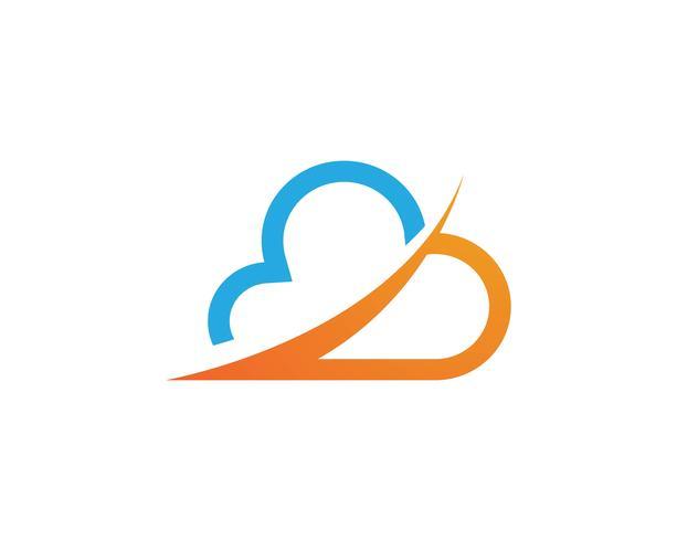 Vector de plantilla de nube