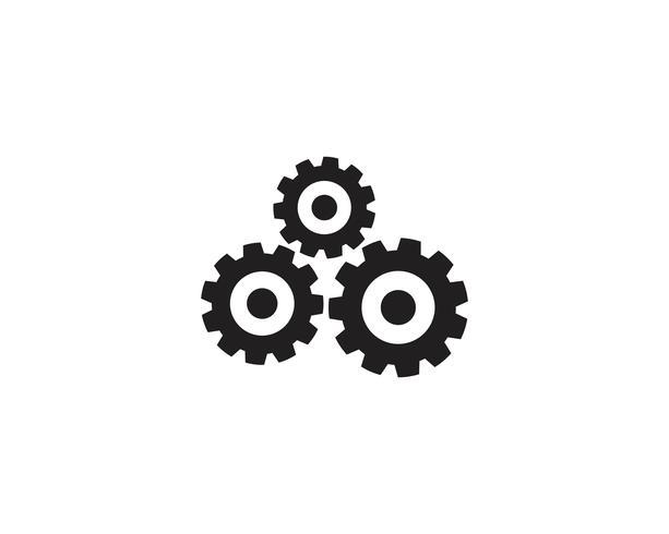 Zahnrad Logo Vorlage Vektor Icon