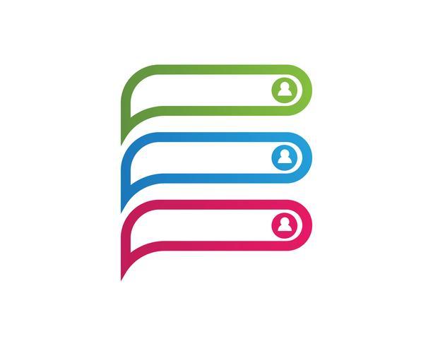 Speech bubble chat icon Vetor de modelo de logotipo