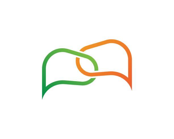 Speech bubble chat  icon Logo template vector