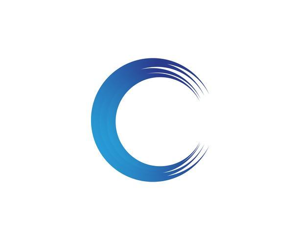 C vector de illustratieontwerp van het golfembleem
