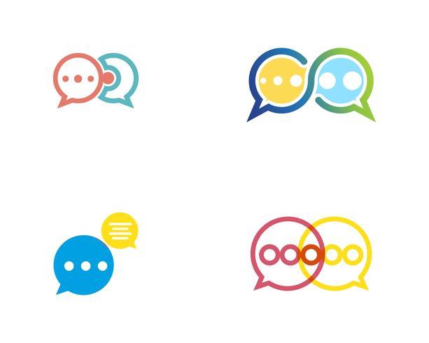 Talbubbla ikon Logo mall vektor illustration vektor