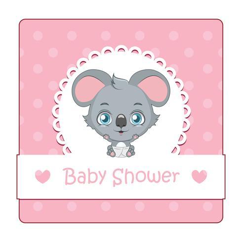Señal linda para baby shower con koala vector