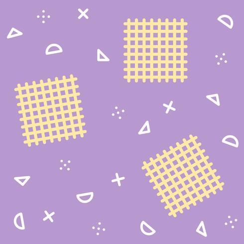 Patrón sin fisuras de Memphis con fondo de elemento geométrico vector