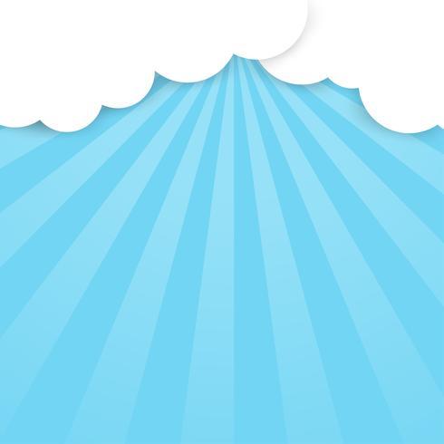 Brillante fondo de cielo y luz que atraviesa las nubes. vector