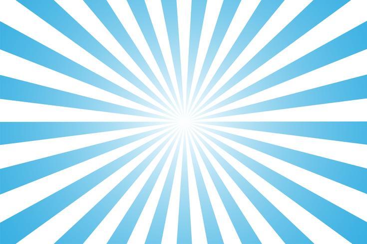 De cartoon-stijl blauwe en witte achtergrond. geeft het gevoel van ochtendzon Vanaf de dag beginnen. vector