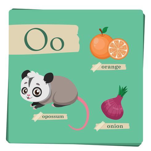Buntes Alphabet für Kinder - Buchstabe O
