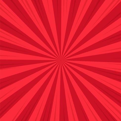 Fond abstrait rouge bande dessinée bande dessinée du soleil. Illustration vectorielle Design. vecteur