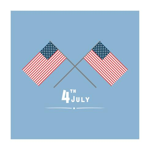 Wenskaart voor 4 juli viering vector
