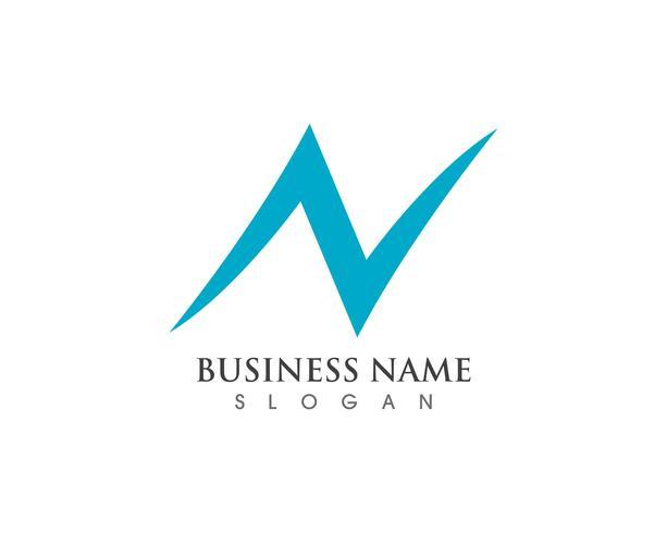 N logotipo carta modelo de negócios vetor