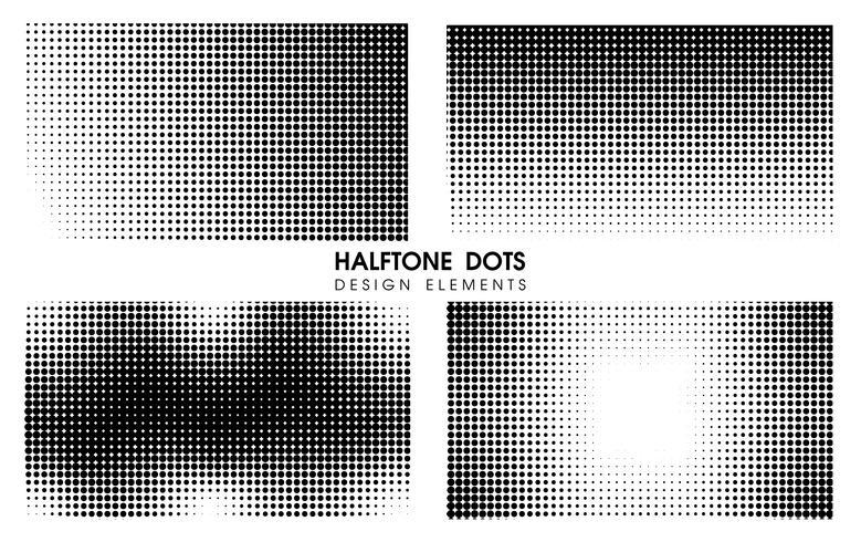 Abstrakt Halvton prickar Tecknad film bakgrund. Vektor Illustration Design.