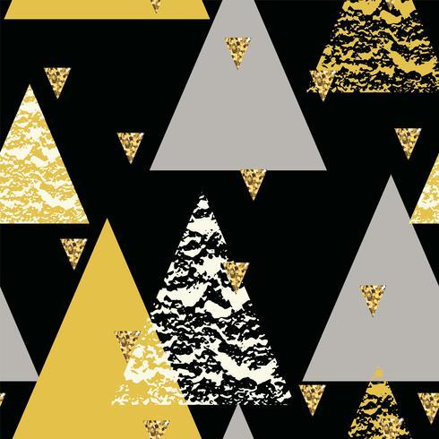 Abstrata sem costura padrão geométrico com texturas da mão desenhada. vetor