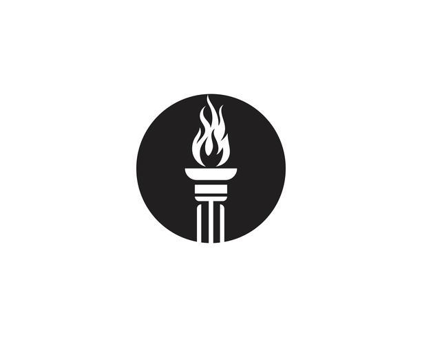 Initial T för Torch logo och symbol design inspiration