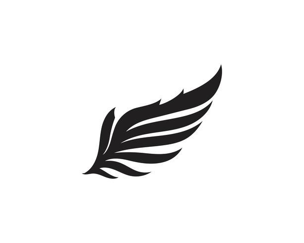 Logotipo do pássaro do falcão da asa vetor