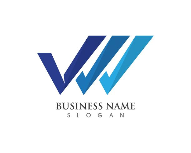 V logo y símbolos de vectores