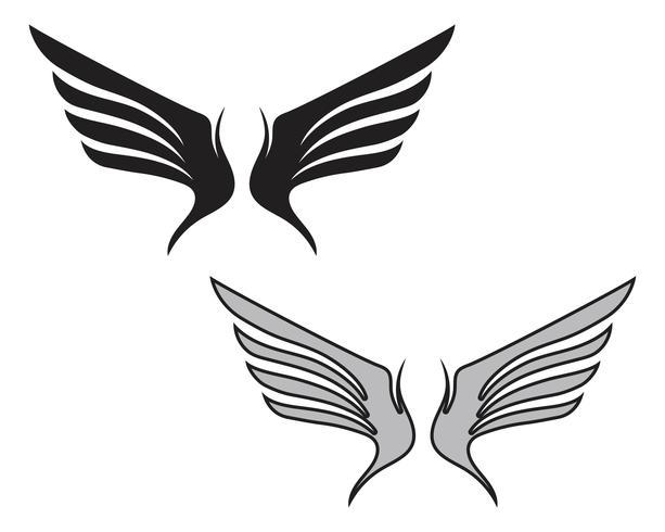 Logotipo do pássaro do falcão da asa