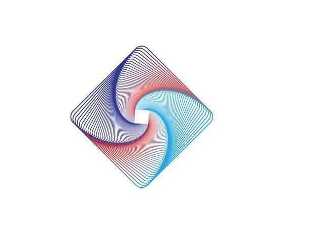 Circle line logo vectors