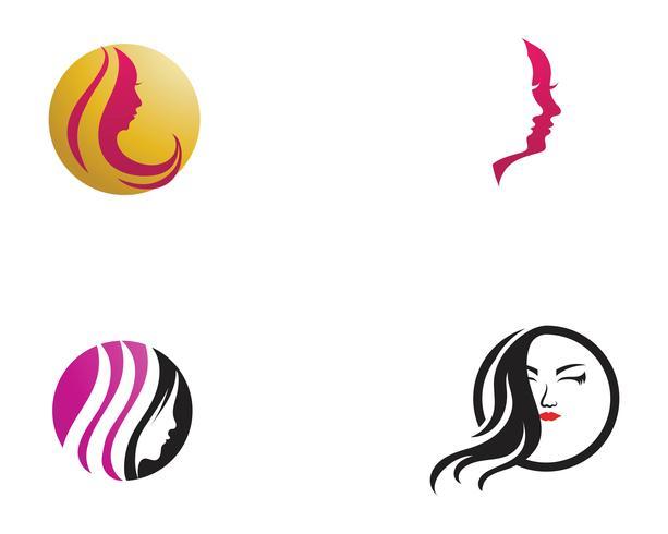 Hair and face salon logo vector templates