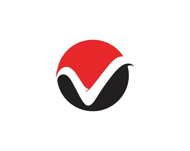 V affärslogotyp och symboler mallar vektor