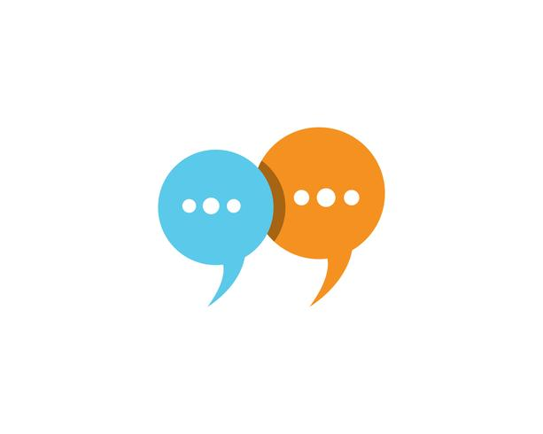 Speech bubble chat icon Logo mall vektor
