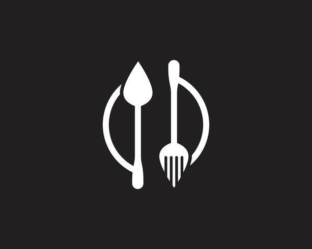 Vecteur de restaurant logo fourchette et cuillère