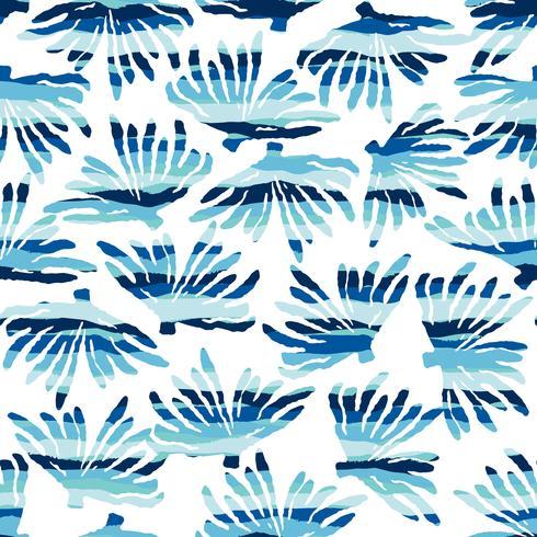 Modèle sans couture de mer de vecteur avec des textures dessinées à la main. Design abstrait moderne