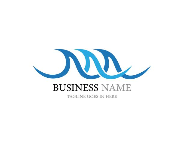 wave logo and symbol vector