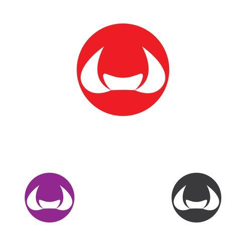 Cow Logo Mall vektor ikon