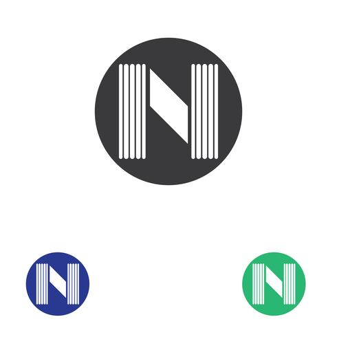 Plantilla de logotipo de letra N vector