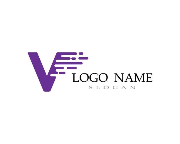 V iconos de iconos de plantilla de logotipo y símbolos