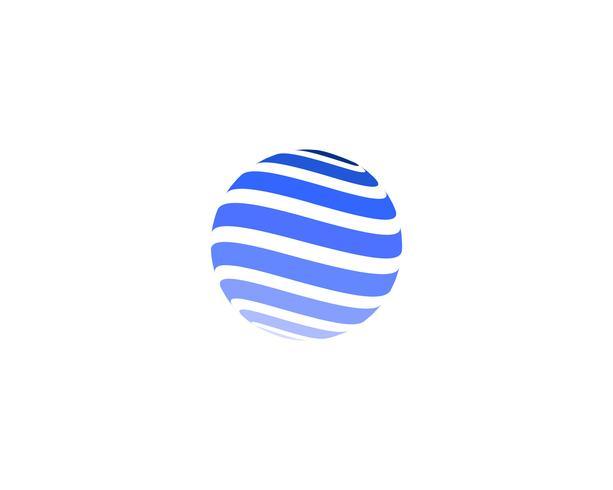 Icône du logo monde fil coloré