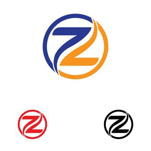 Z carta Logo plantilla vector icono ilustración