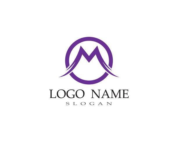 Vettore del modello di affari di logo della lettera di m