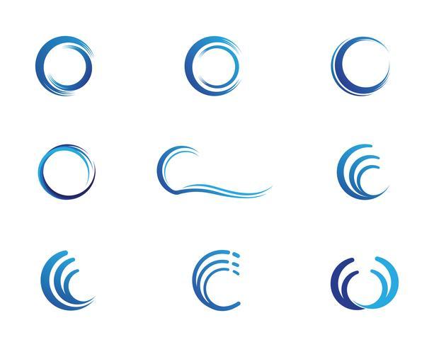 C wave logo vector illustration design