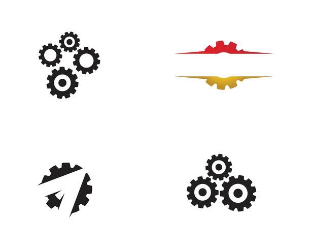 icono de vector de plantilla de logotipo de engranaje