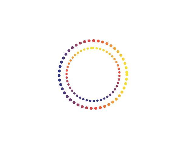 Vetores de logotipo de linha de círculo