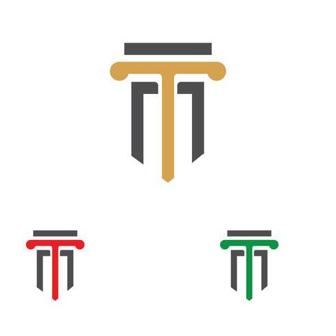 colonna Modello di vettore di logo