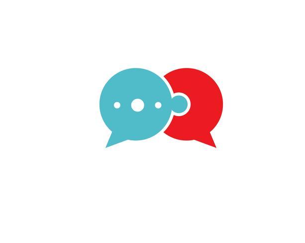 Toespraak bubble pictogram Logo sjabloon vector illustratie vector