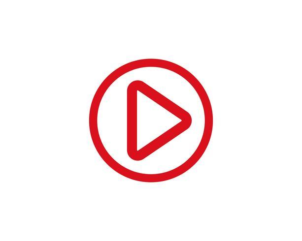 Play button vector logo media player  vector