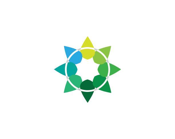 logotipo de hoja verde ecología naturaleza elemento vector