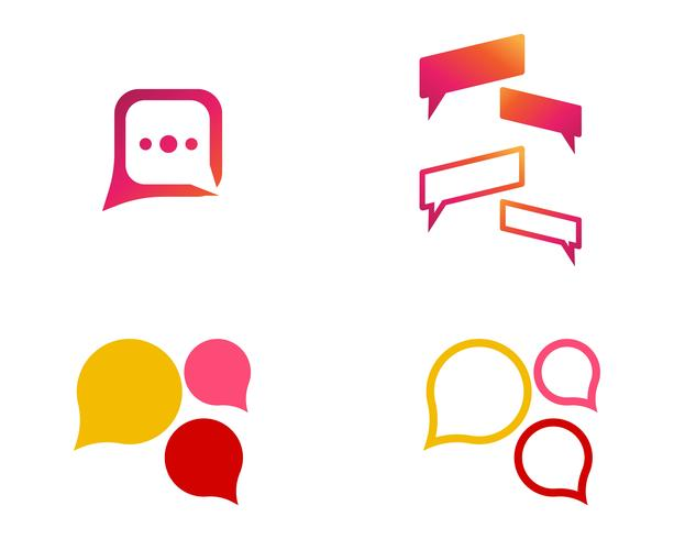 Discurso burbuja icono Logo plantilla vector ilustración vectorial