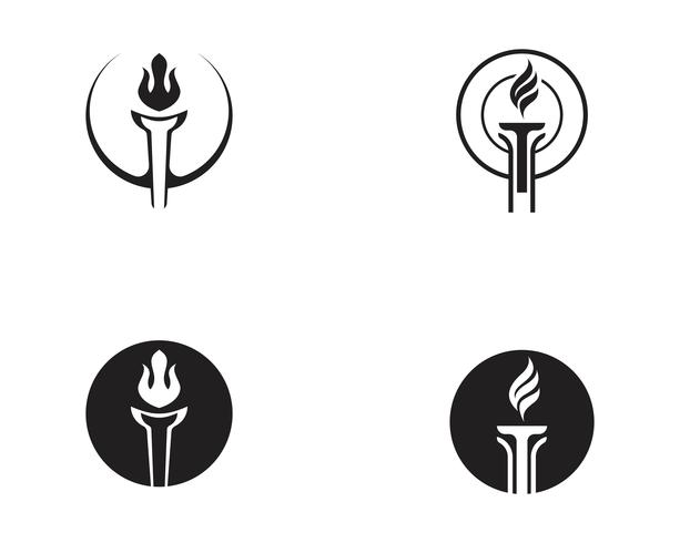Initial T for Torch logo and symbol design inspiration