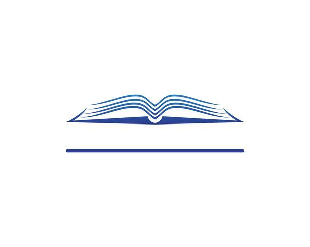 Livro lendo ícones de modelo de logotipo e símbolos